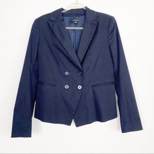 Ann Taylor Navy  Double Breast Blazer with Pockets